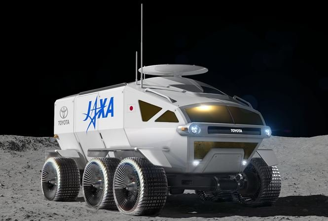 xe Toyota concept di chuyển trên mặt trăng