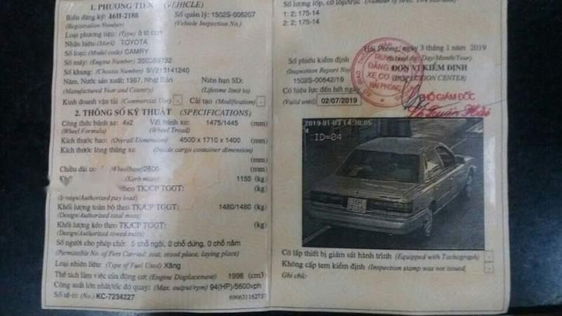 Cần bán gấp Toyota Camry sản xuất 1987, xe vẫn dùng bình thường-0