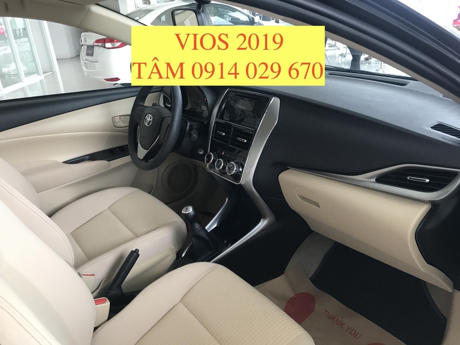 Bán Toyota Vios 2019 giá rẻ nhất thị trường, giao xe ngay, hỗ trợ vay 80% - LH 0914 029 670 (Tâm) (4)