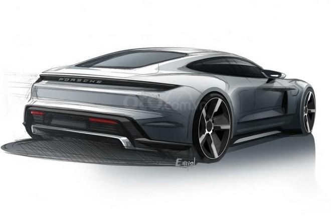 Porsche Taycan EV 2019 - đuôi xe