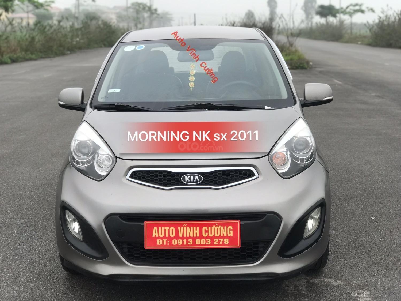 Cần bán xe Kia Morning 1.0AT 2011, màu xám (ghi), xe nhập-0
