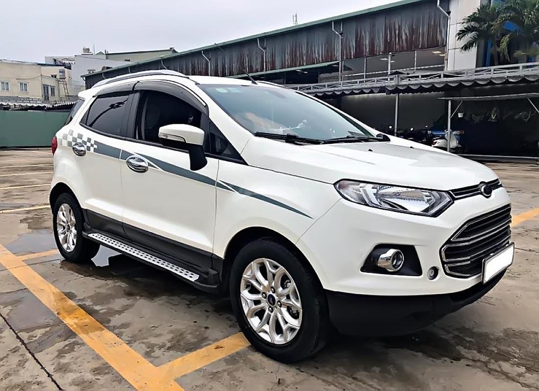 Bán Ford EcoSport Titanium năm sản xuất 2018, màu trắng-0