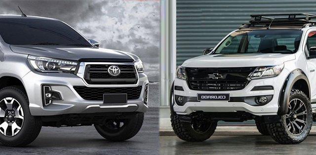 So sánh xe Toyota Hilux 2019 và Chevrolet Colorado 2019: Đại chiến bán tải Nhật - Mỹ.