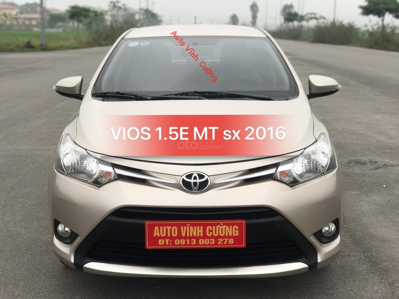 Bán ô tô Toyota Vios 1.5E MT năm sản xuất 2016, biển tỉnh bao hồ sơ-0