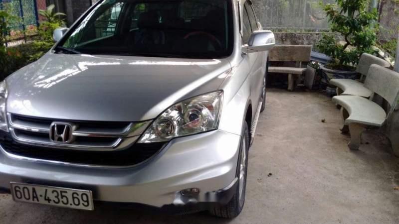 Cần bán Honda CR V đời 2010, màu bạc, 550 triệu-1