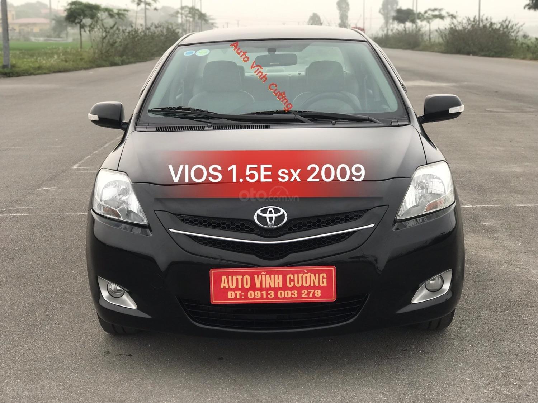 Bán xe Toyota Vios 1.5E MT đời 2009, màu đen-0