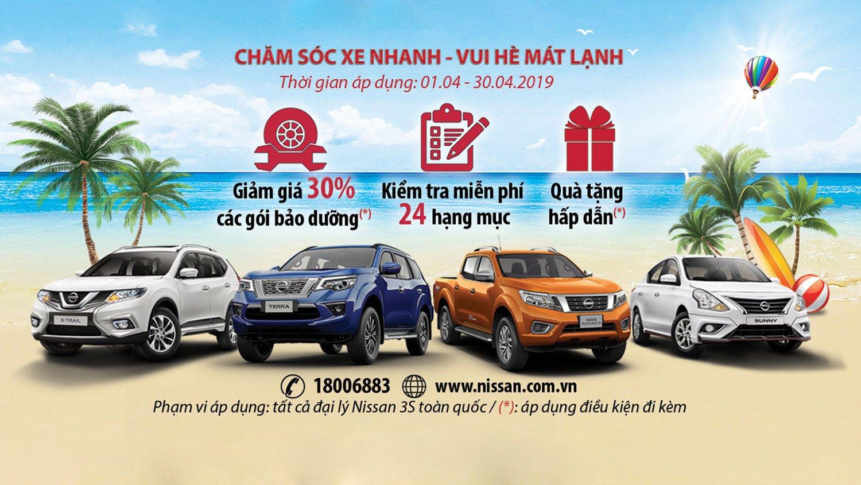 """Nissan Việt Nam triển khai chương trình hậu mãi """"Chăm sóc xe nhanh - Vui hè mát lạnh"""" a"""