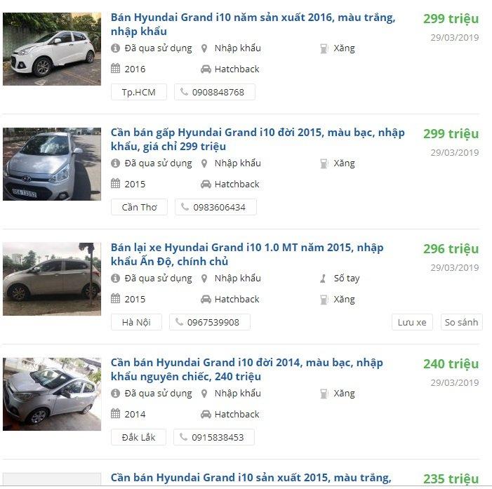 Xe ô tô giá dưới 300 triệu4aa