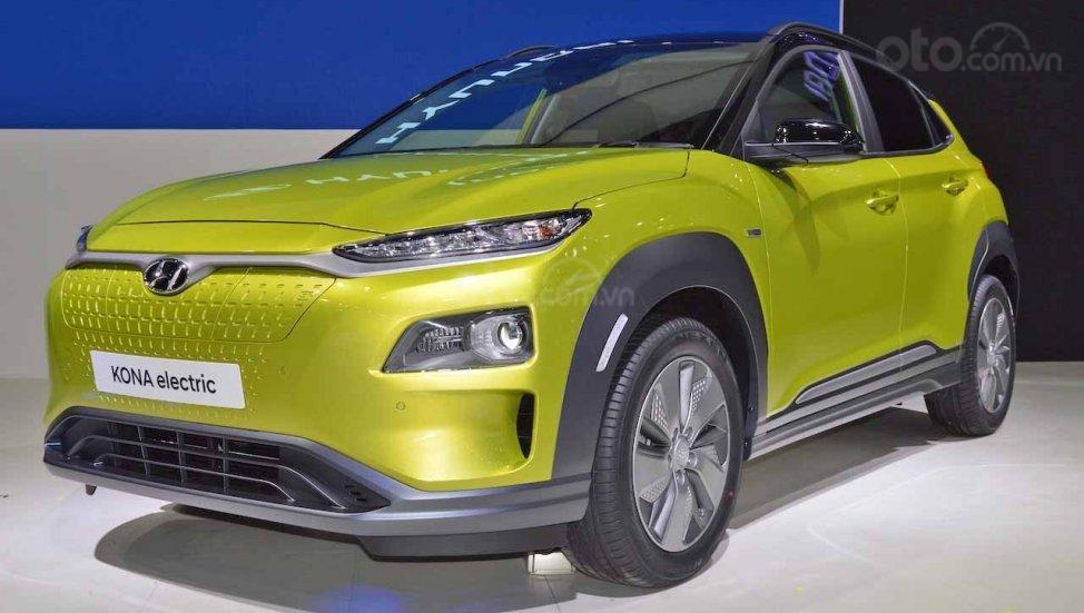 Hyundai Kona Electric ra mắt triển lãm Bangkok 2019 - ảnh đầu xe 3