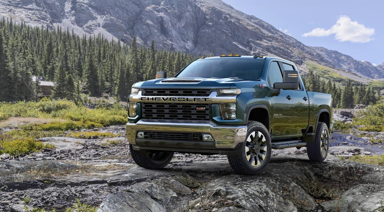 bán tải Chevrolet Silverado HD màu xanh