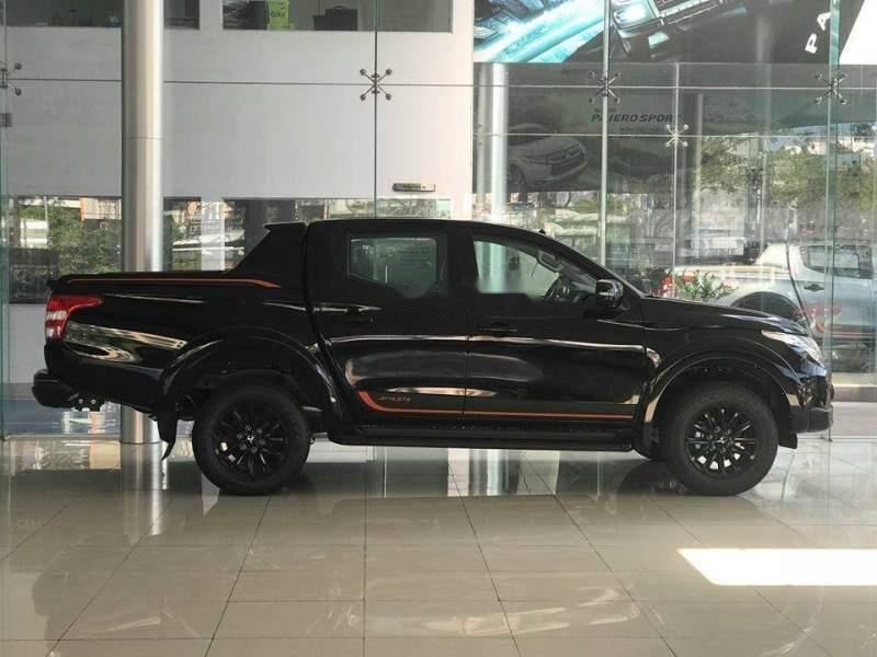 Bán xe Mitsubishi Triton Athlete 4x2 AT năm 2018, màu đen, nhập khẩu Thái Lan-0