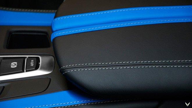 Chiêm ngưỡng BMW X6 M độ nội thất xanh - đen đẹp huyền bí 12