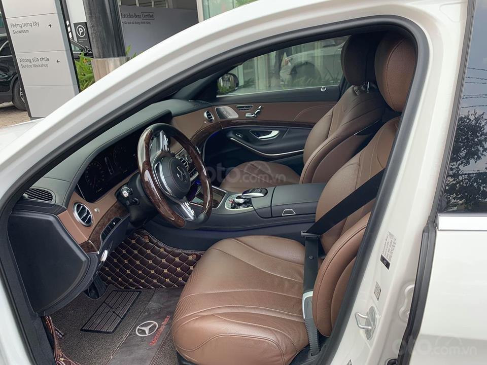 Bán xe Mercedes S450 trắng nội thất nâu model 2019 chính hãng-3