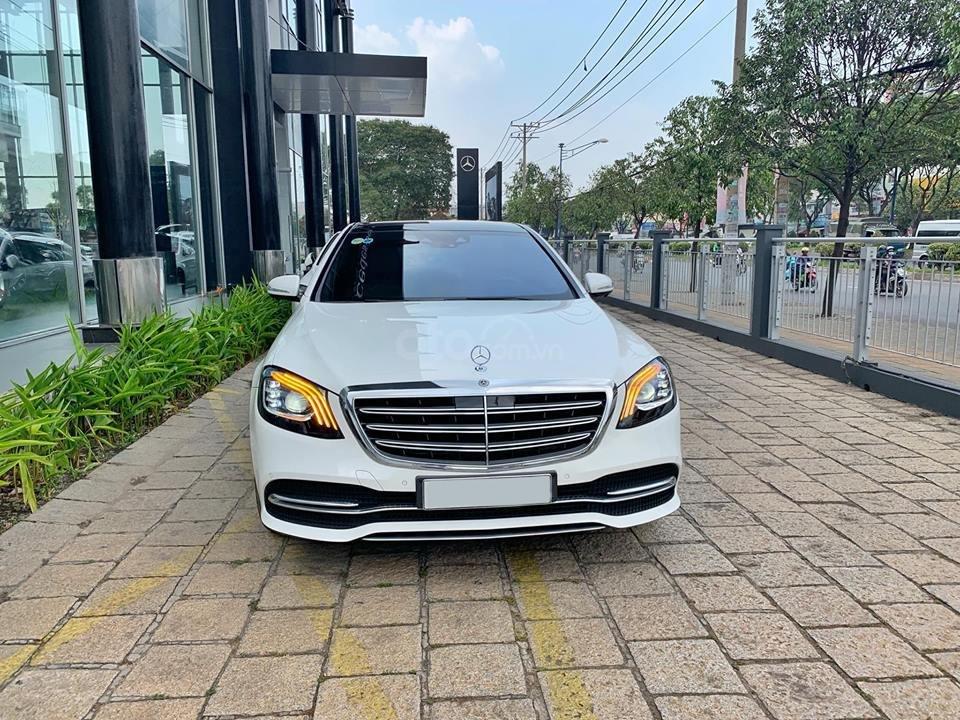 Bán xe Mercedes S450 trắng nội thất nâu model 2019 chính hãng-6