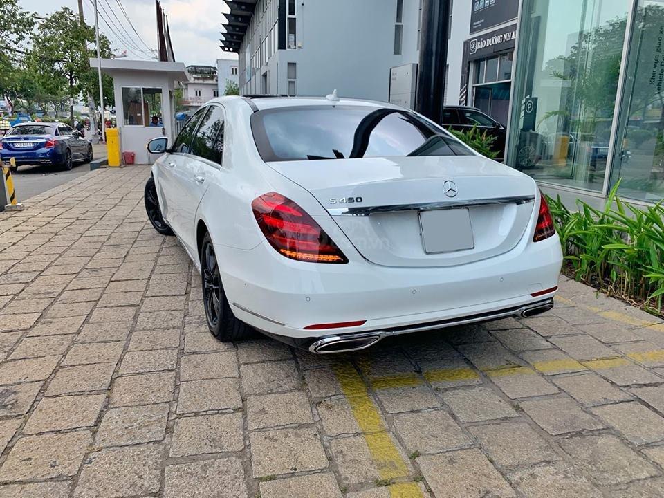 Bán xe Mercedes S450 trắng nội thất nâu model 2019 chính hãng-12