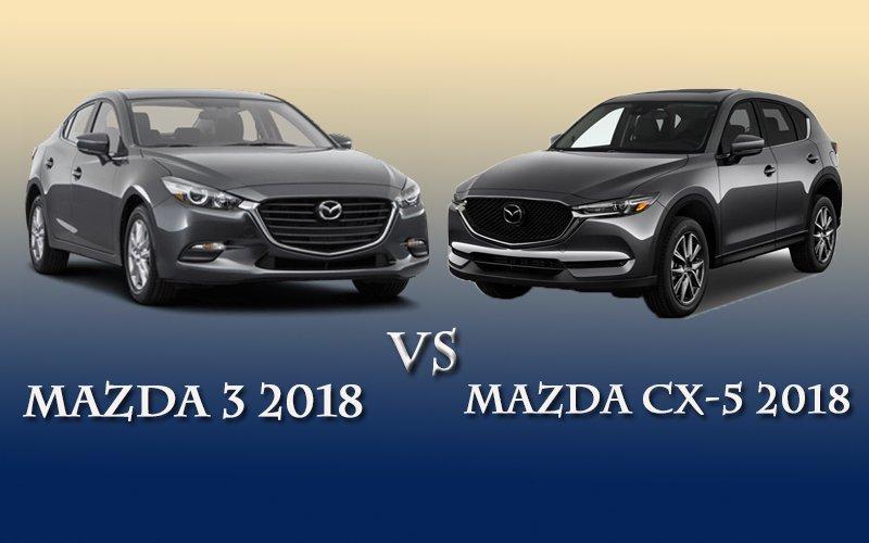 So sánh xe Mazda 3 2018 và Mazda CX-5 2018.