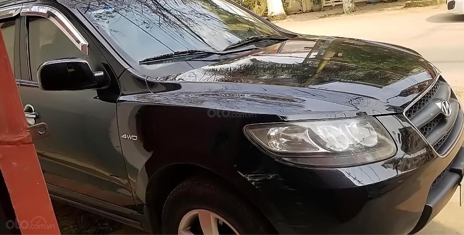 Bán Hyundai Santa Fe sản xuất 2007, màu đen, nhập khẩu  (1)