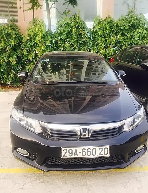 Cần bán lại xe Honda Civic đời 2012, màu đen như mới  (1)