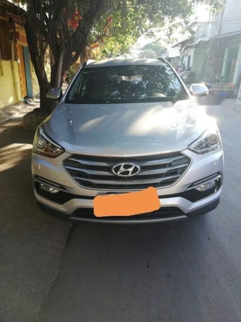 Bán Hyundai Santa Fe đời 2017, màu bạc, xe nhập-1