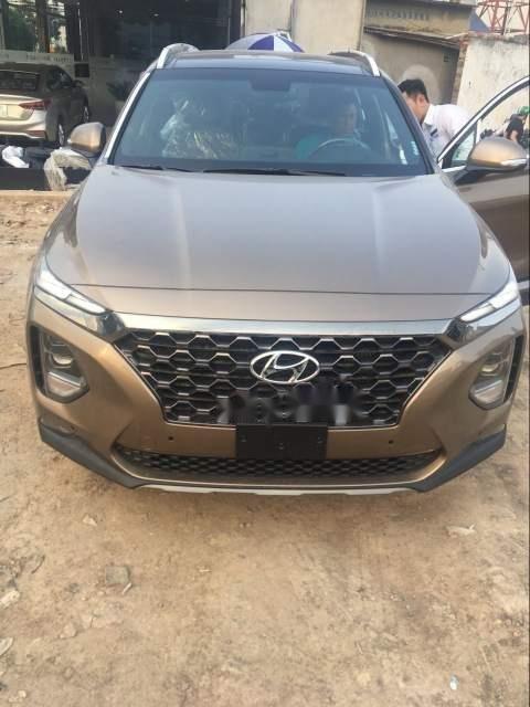 Bán xe Hyundai Santa Fe Premium đời 2019, màu nâu-0
