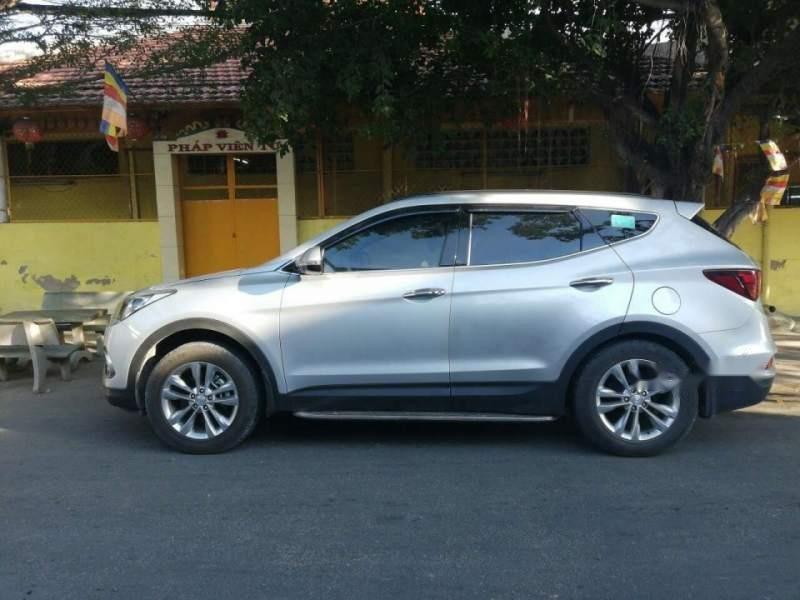 Bán Hyundai Santa Fe đời 2017, màu bạc, xe nhập-0