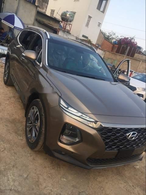 Bán xe Hyundai Santa Fe Premium đời 2019, màu nâu-1