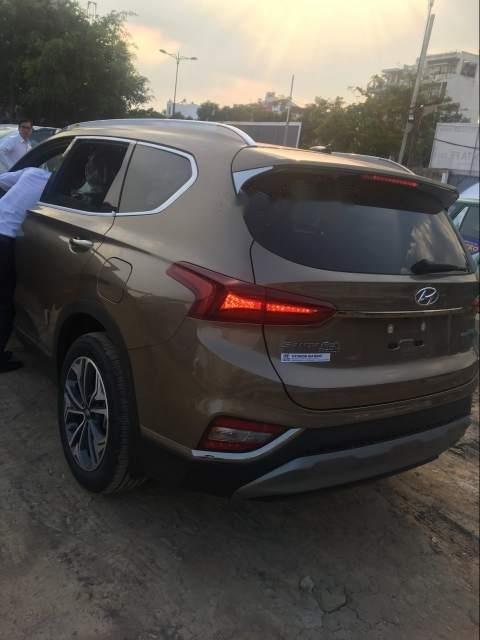 Bán xe Hyundai Santa Fe Premium đời 2019, màu nâu-3