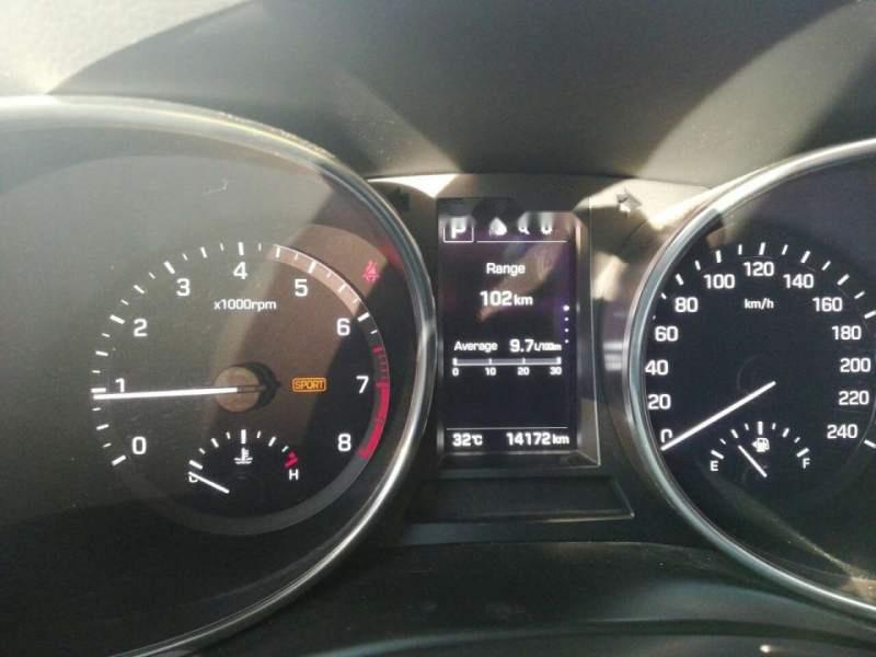 Bán Hyundai Santa Fe đời 2017, màu bạc, xe nhập-5