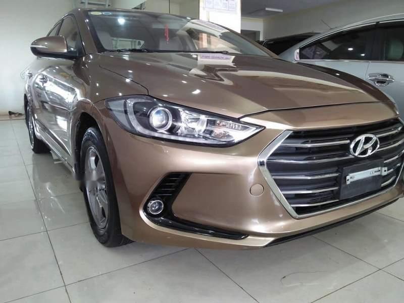 Cần bán Hyundai Elantra GLS sản xuất năm 2016, màu vàng số sàn-0