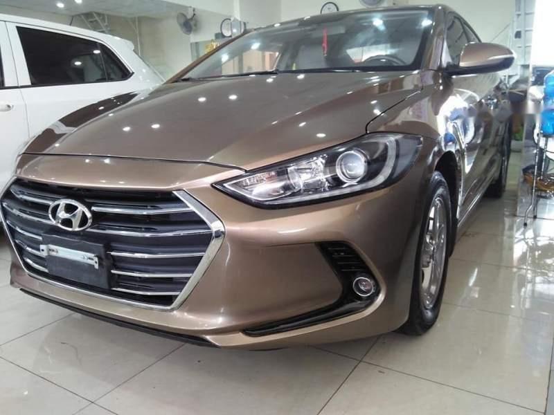 Cần bán Hyundai Elantra GLS sản xuất năm 2016, màu vàng số sàn-1