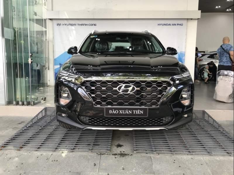 Bán Hyundai Santa Fe 2019, màu đen-0