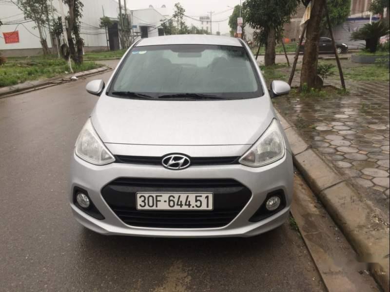 Bán gấp Hyundai Grand i10 năm sản xuất 2015, màu bạc -0