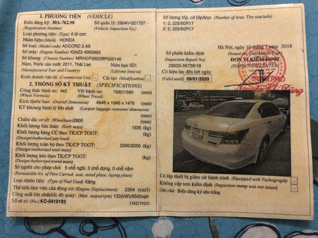 Bán Honda Accord 2.4S 2011 xe nhập, đẹp đến từng milimet, thật đấy-16