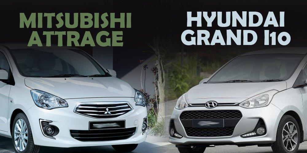 So sánh xe Hyundai Grand i10 2019 và Mitsubishi Attrage 2019: Tầm giá 400 triệu chọn sedan nào cho phải?.