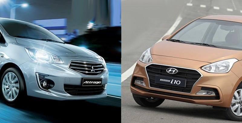 So sánh xe Hyundai Grand i10 2019 và Mitsubishi Attrage 2019: Xe Hàn hấp dẫn hơn.