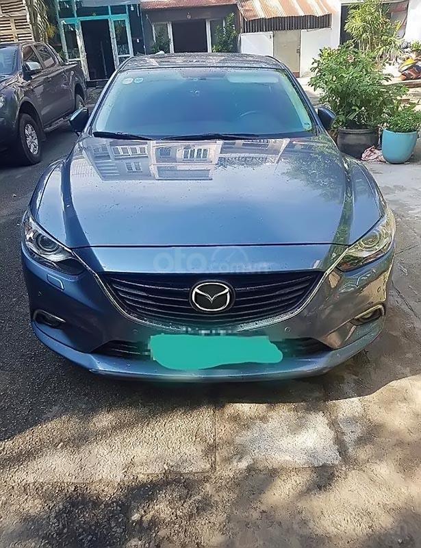 Bán lại xe Mazda 6 sản xuất 2015, màu xanh lam giá cạnh tranh-0