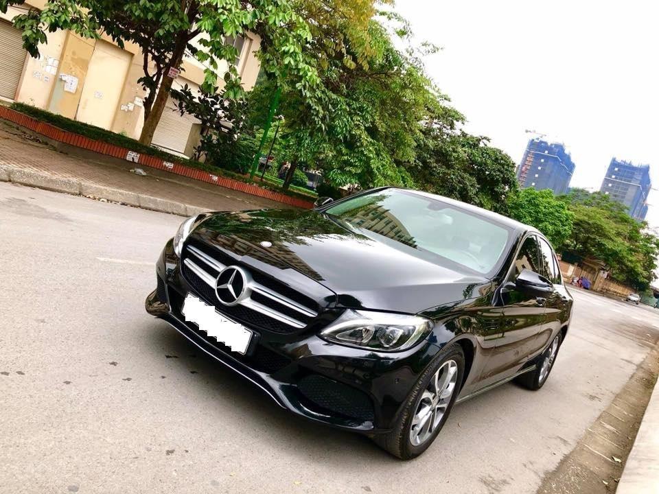Bán Mercedes C200 màu đen sản xuất 2015 đăng ký biển Hà Nội-2
