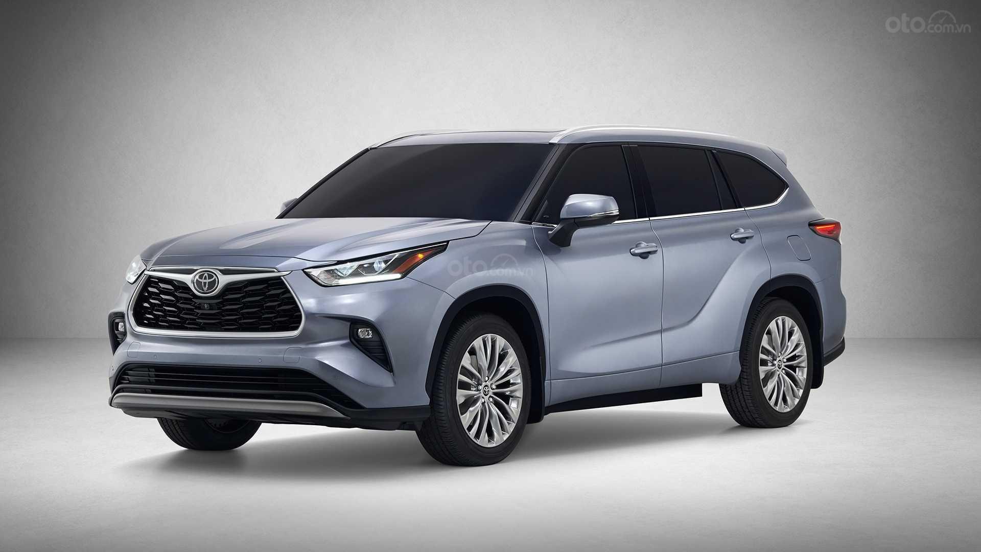 Toyota Highlander 2020 góc 3/4 đầu xe
