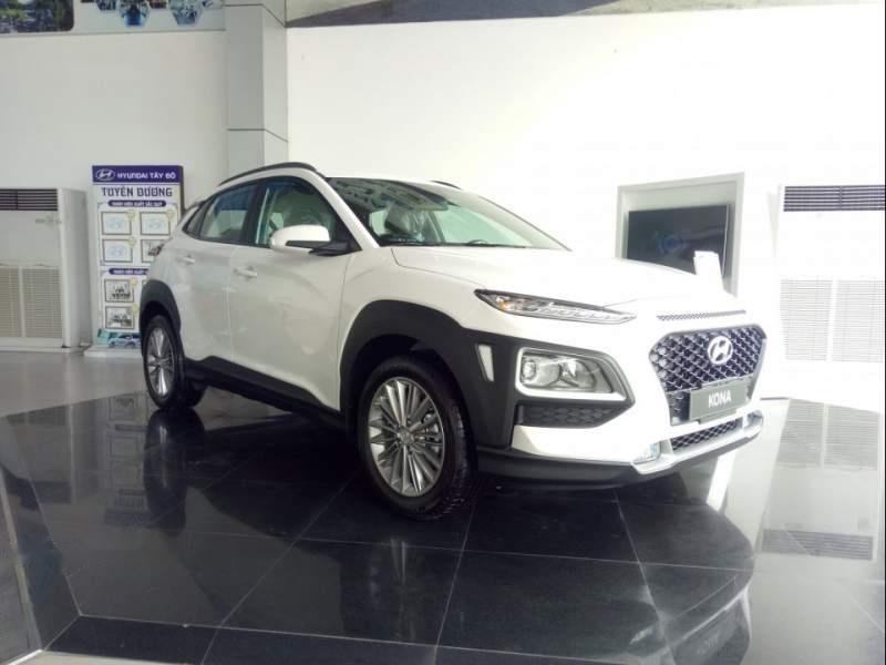 Bán Hyundai Kona đời 2019, màu trắng, 615 triệu-0