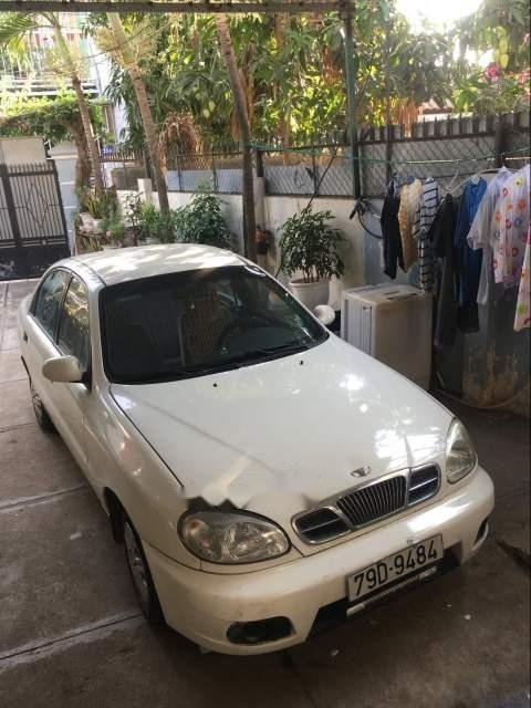 Lên đời xe bán Daewoo Lanos sản xuất 2003, màu trắng, nhập khẩu-0