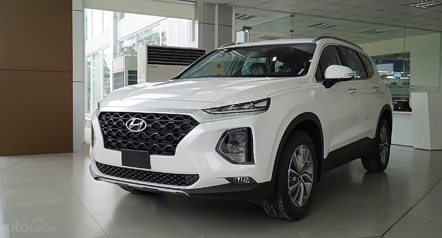 Bán ô tô Hyundai Santa Fe 2.4L HTRAC năm sản xuất 2019, màu trắng-0
