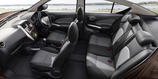 Nội thất tiện nghi hiện đại trên Nissan Sunny 2018