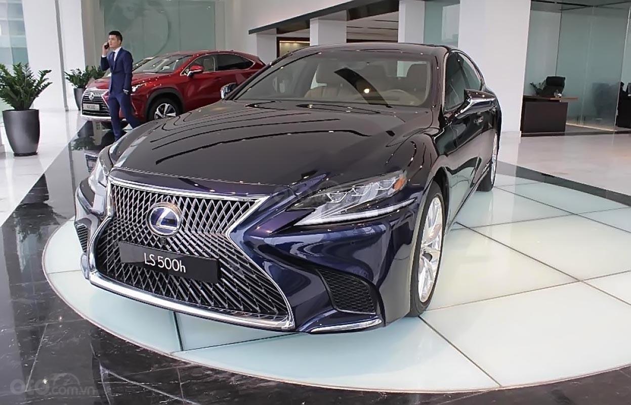 Bán xe Lexus LS 500h năm sản xuất 2018, màu xanh lam, xe nhập-1