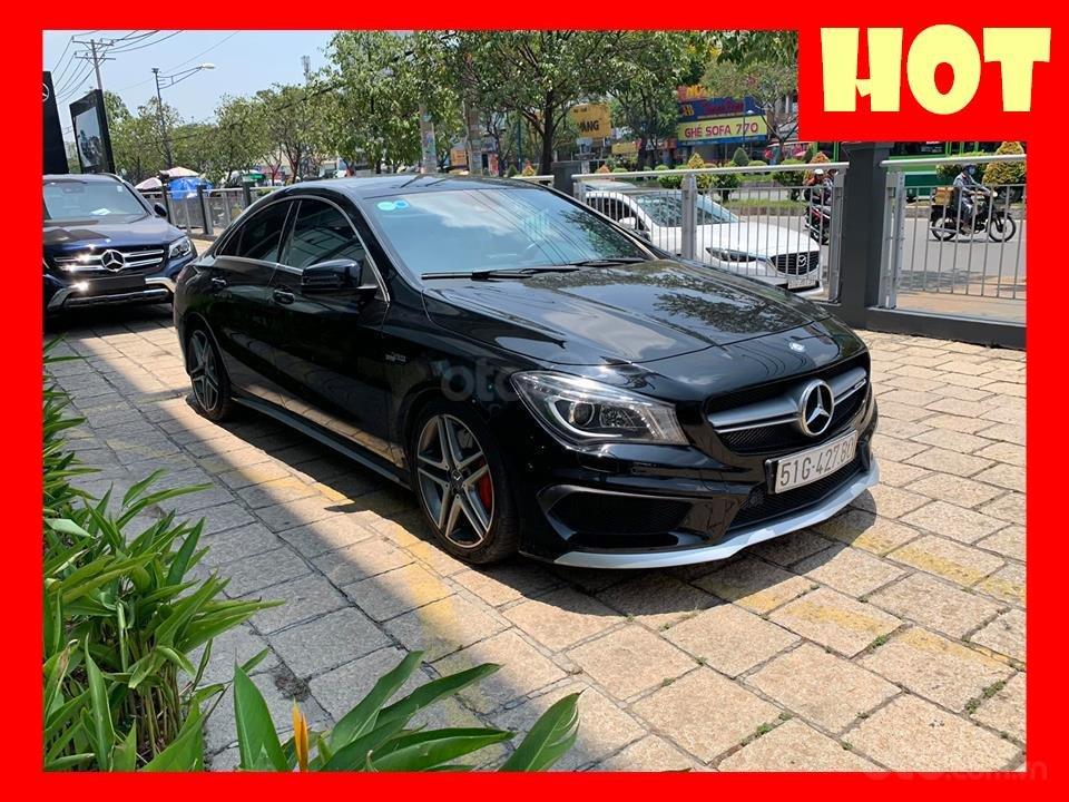 Bán xe Mercedes CLA45 đen nội thất đen 2014 chính hãng, trả trước 450 triệu nhận xe ngay-0