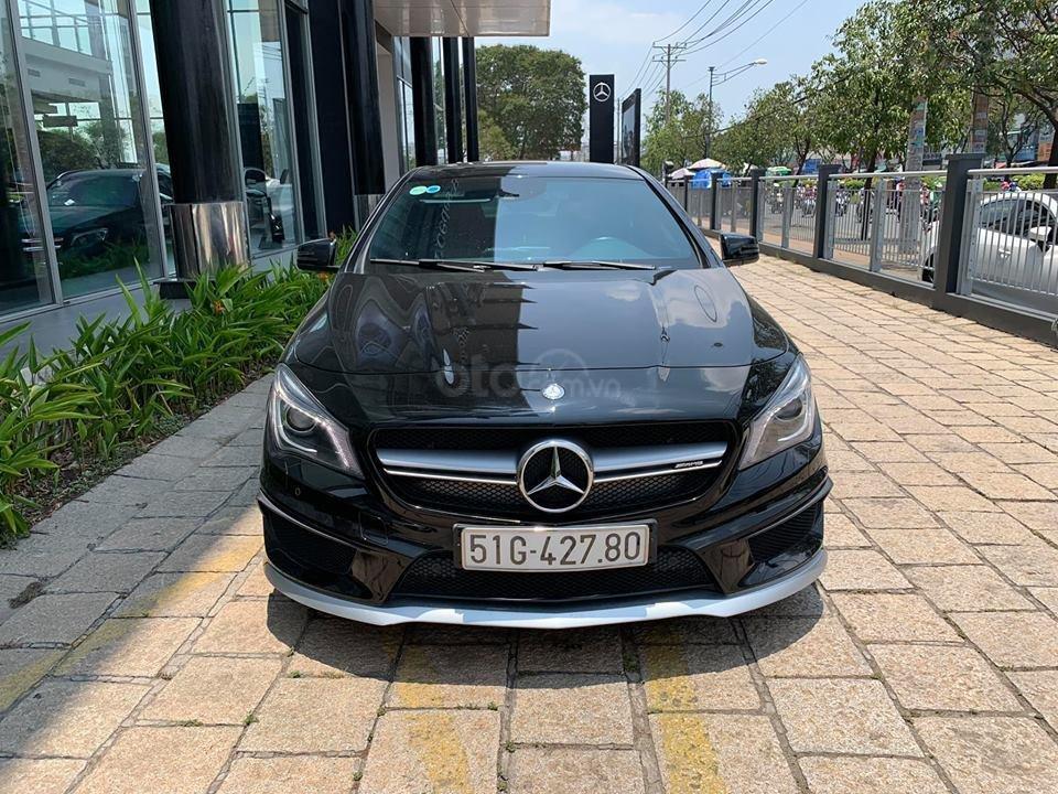 Bán xe Mercedes CLA45 đen nội thất đen 2014 chính hãng, trả trước 450 triệu nhận xe ngay (4)