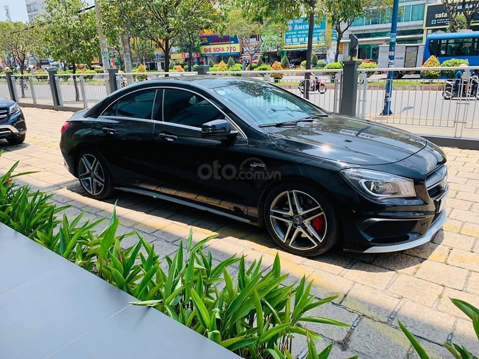 Bán xe Mercedes CLA45 đen nội thất đen 2014 chính hãng, trả trước 450 triệu nhận xe ngay (6)