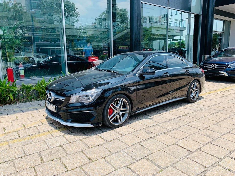 Bán xe Mercedes CLA45 đen nội thất đen 2014 chính hãng, trả trước 450 triệu nhận xe ngay (5)