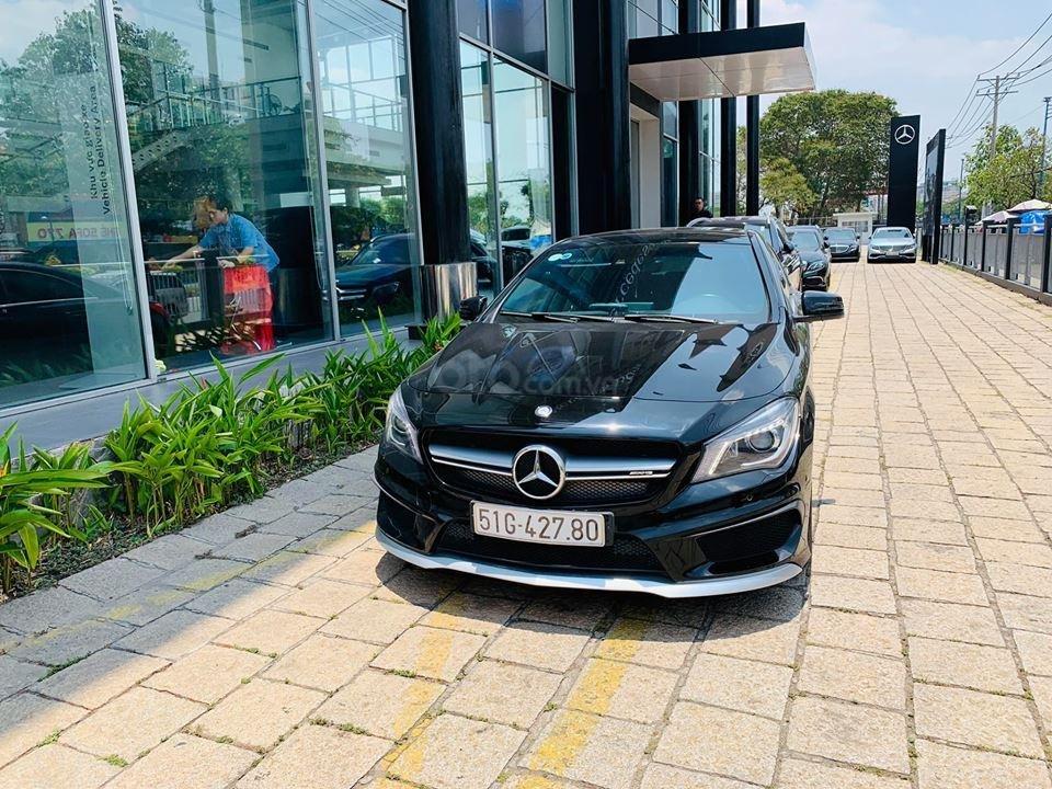 Bán xe Mercedes CLA45 đen nội thất đen 2014 chính hãng, trả trước 450 triệu nhận xe ngay (9)