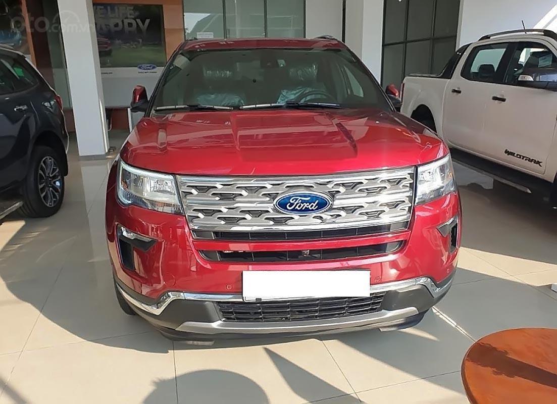 Bán xe Ford Explorer Limited 2.3L EcoBoost sản xuất năm 2019, màu đỏ, nhập khẩu nguyên chiếc-0