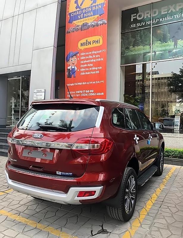 Bán Ford Everest Titatinum đời 2019, màu đỏ, nhập khẩu-1